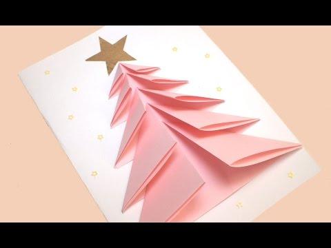 Tutorial Biglietti Di Natale.Biglietto Di Natale Fai Da Te Video Tutorial